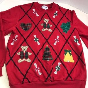 Christmas Sweater Sweatshirt Alfred Dunner Small